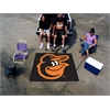 FANMATS MLB - Baltimore Orioles Cartoon Bird Tailgater Rug 5'x6'