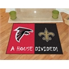 "FANMATS NFL - Atlanta Falcons - New Orleans Saints House Divided Rugs 33.75""x42.5"""