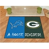 "FANMATS NFL - Detroit Lions - Green Bay Packers House Divided Rugs 33.75""x42.5"""