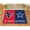 "FANMATS NFL - Houston Texans - Dallas Cowboys House Divided Rugs 33.75""x42.5"""
