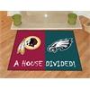"FANMATS NFL - Washington Redskins - Philadelphia Eagles House Divided Rugs 33.75""x42.5"""