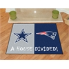 "FANMATS NFL - Dallas Cowboys - New England Patriots House Divided Rugs 33.75""x42.5"""