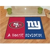 "FANMATS NFL -San Francisco 49ers - New York Giants House Divided Rugs 33.75""x42.5"""