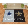 "FANMATS NFL - Dallas Cowboys - New Orleans Saints House Divided Rugs 33.75""x42.5"""