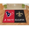 "FANMATS NFL- Houston Texans - New Orleans Saints House Divided Rugs 33.75""x42.5"""