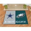 "FANMATS NFL - Dallas Cowboys - Philadelphia Eagles House Divided Rugs 33.75""x42.5"""