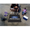 FANMATS Ford Racing Tailgater Rug 5'x6' - Black