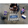 FANMATS Built Ford Tough Tailgater Rug 5'x6' Gray