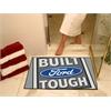 """FANMATS Built Ford Tough All-Star Mat 33.75""""x42.5"""" Gray"""