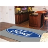 FANMATS Ford Oval  Rug 5'x8' - Gray