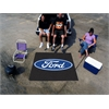 FANMATS Ford Oval  Tailgater Rug 5'x6' - Black