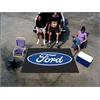 FANMATS Ford Oval  Ulti-Mat 5'x8' - Black