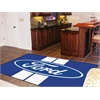 FANMATS Ford Oval with Stripes Rug 5'x8' - Blue