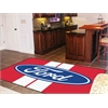 FANMATS Ford Oval with Stripes Rug 5'x8' - Red