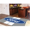 FANMATS Ford Oval with Stripes Rug 5'x8' - Gray