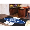 FANMATS Ford Oval with Stripes Rug 5'x8' - Black