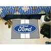 """FANMATS Ford Oval with Stripes Starter Rug 19""""x30"""" - Gray"""