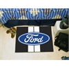 "FANMATS Ford Oval with Stripes Starter Rug 19""x30"" - Black"