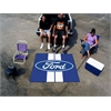 FANMATS Ford Oval with Stripes Tailgater Rug 5'x6' - Blue