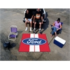 FANMATS Ford Oval with Stripes Tailgater Rug 5'x6' - Red