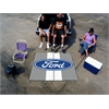 FANMATS Ford Oval with Stripes Tailgater Rug 5'x6' - Gray