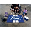 FANMATS Ford Oval with Stripes Ulti-Mat 5'x8' - Blue