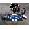 FANMATS Ford Oval with Stripes Ulti-Mat 5'x8' - Black