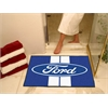 "FANMATS Ford Oval with Stripes All-Star Mat 33.75""x42.5"" - Blue"