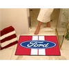 "FANMATS Ford Oval with Stripes All-Star Mat 33.75""x42.5"" - Red"