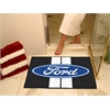 "FANMATS Ford Oval with Stripes All-Star Mat 33.75""x42.5"" - Black"