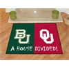 "FANMATS Baylor - Oklahoma House Divided Rugs 33.75""x42.5"""
