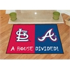 "FANMATS MLB - Cardinals - Braves Divided Rugs 33.75""x42.5"""