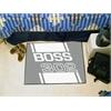 """FANMATS Boss 302  Starter Rug 19""""x30"""" -  Gray"""