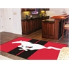 FANMATS Mustang Horse  Rug 5'x8' - Red