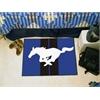 """FANMATS Mustang Horse  Starter Rug 19""""x30"""" - Blue"""