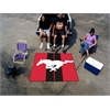 FANMATS Mustang Horse  Tailgater Rug 5'x6' - Red