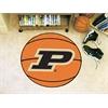 """FANMATS Purdue 'P' Basketball Mat 27"""" diameter"""