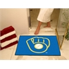 "FANMATS MLB - Milwaukee Brewers ""Ball in Glove"" All-Star Mat 33.75""x42.5"""