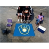 "FANMATS MLB - Milwaukee Brewers ""Ball in Glove"" Tailgater Rug 5'x6'"