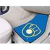 "FANMATS MLB - Milwaukee Brewers ""Ball in Glove"" 2-piece Carpeted Car Mats 17""x27"""