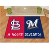 "FANMATS MLB - Cardinals - Brewers Divided Rugs 33.75""x42.5"""