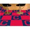 """FANMATS MLB - Cleveland Indians """"Block-C"""" Carpet Tiles 18""""x18"""" tiles"""