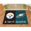 "FANMATS NFL - Steelers/Eagles House Divided Rugs 33.75""x42.5"""