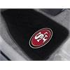 "FANMATS NFL - San Francisco 49ers 2-piece Embroidered Car Mats 18""x27"""