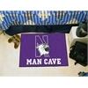 "FANMATS Northwestern Man Cave Starter Rug 19""x30"""