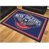 FANMATS NBA - New Orleans Pelicans 8'x10' Rug