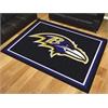 FANMATS NFL - Baltimore Ravens 8'x10' Rug