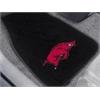"""FANMATS Arkansas 2-piece Embroidered Car Mats 18""""x27"""""""