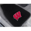 "FANMATS Wisconsin 2-piece Embroidered Car Mats 18""x27"""