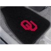 """FANMATS Oklahoma 2-piece Embroidered Car Mats 18""""x27"""""""
